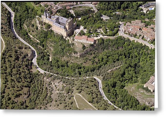 Castilla Greeting Cards - Aerial View Of El Alcázar De Segovia Greeting Card by Blom ASA