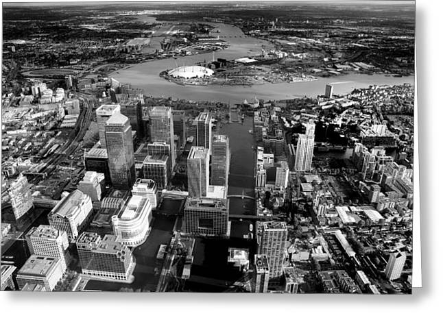 Barriers Greeting Cards - Aerial view of London 5 Greeting Card by Mark Rogan