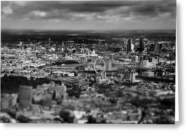 Aerial View Greeting Cards - Aerial View Of London 6 Greeting Card by Mark Rogan