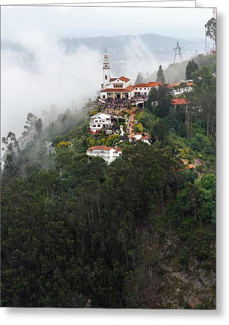 Aerial View Of Monserrate Church Greeting Card by Jess Kraft