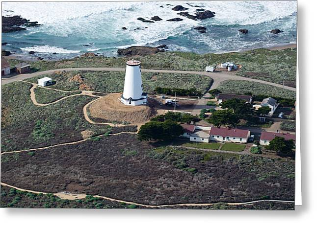 San Luis Obispo Greeting Cards - Aerial View Of Piedras Blancas Greeting Card by Panoramic Images