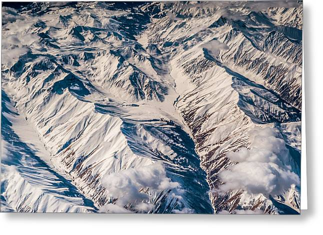 Armenia Greeting Cards - Aerial View of The Mountains Greeting Card by Jenny Rainbow