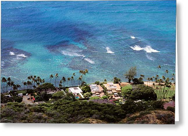 Panoramic Ocean Greeting Cards - Aerial View Of The Pacific Ocean, Ocean Greeting Card by Panoramic Images
