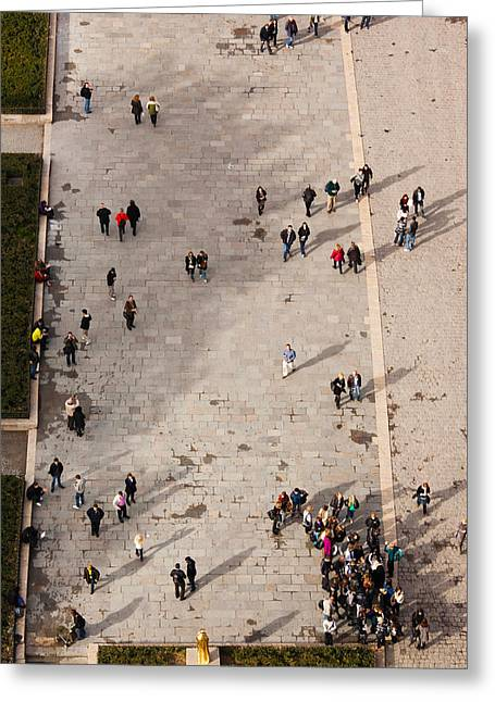 Incidental People Greeting Cards - Aerial View Of Tourists Viewed Greeting Card by Panoramic Images