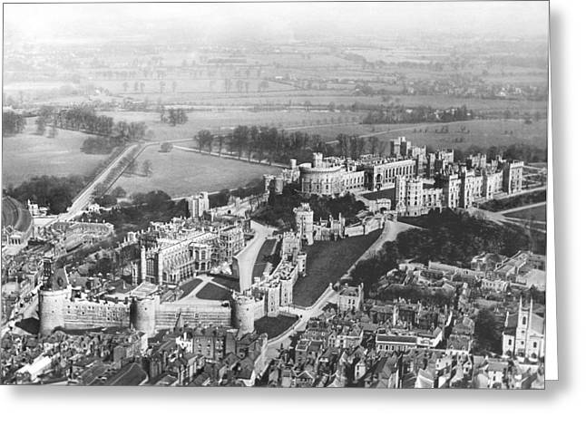 Aerial View Of Windsor Castle. Greeting Card by Underwood Archives