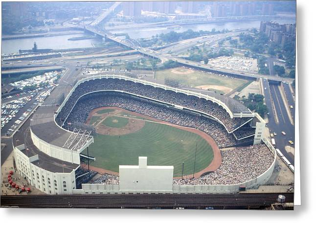 Bronx Greeting Cards - Yankee Stadium Greeting Card by Retro Images Archive