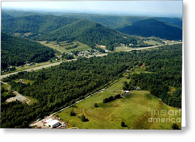 Speed Trap Greeting Cards - Aerial View US Route 19  Greeting Card by Thomas R Fletcher