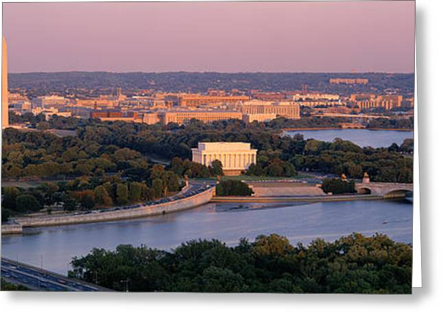 Capitol Greeting Cards - Aerial, Washington Dc, District Of Greeting Card by Panoramic Images