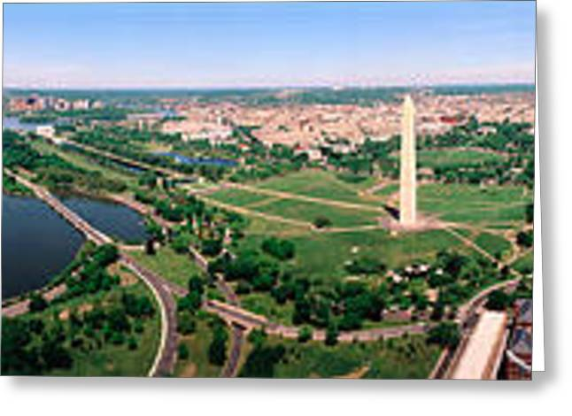 Us Capitol Greeting Cards - Aerial Washington Dc Usa Greeting Card by Panoramic Images