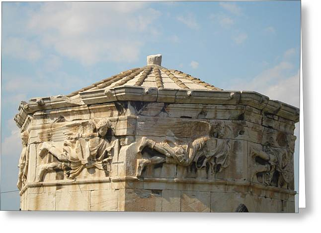 Old Town Reliefs Greeting Cards - Aerides Greeting Card by Greek View