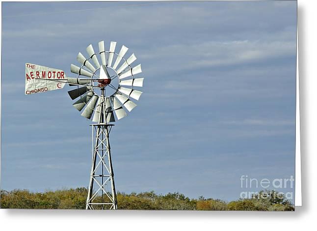 Aermotor Greeting Cards - Aermotor Windmill Greeting Card by Gary Richards
