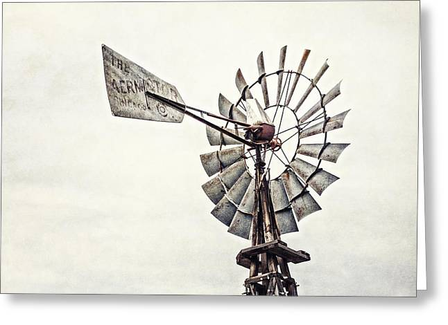 Grapevine Photographs Greeting Cards - Aermotor Windmill in Grapevine Texas Greeting Card by Lisa Russo