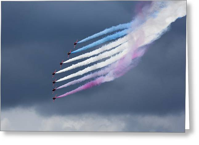Stunt Flyer Greeting Cards - Aerobatic team Greeting Card by Graham Moore