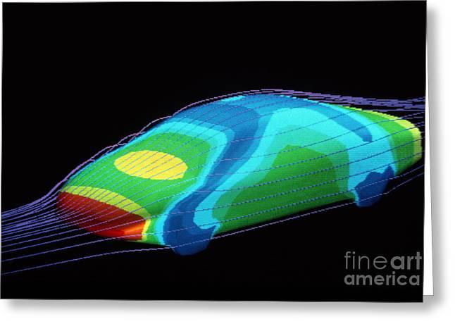 Aerodynamics In Car Design Greeting Card by Hank Moragn