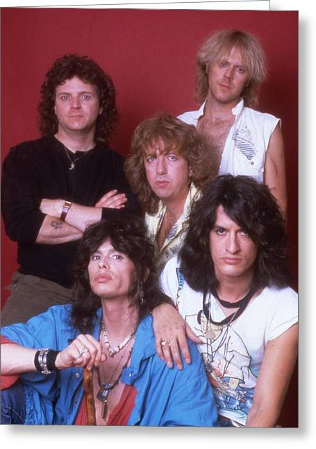 Tom Boy Greeting Cards - Aerosmith - Back in the Saddle 1984 Greeting Card by Epic Rights