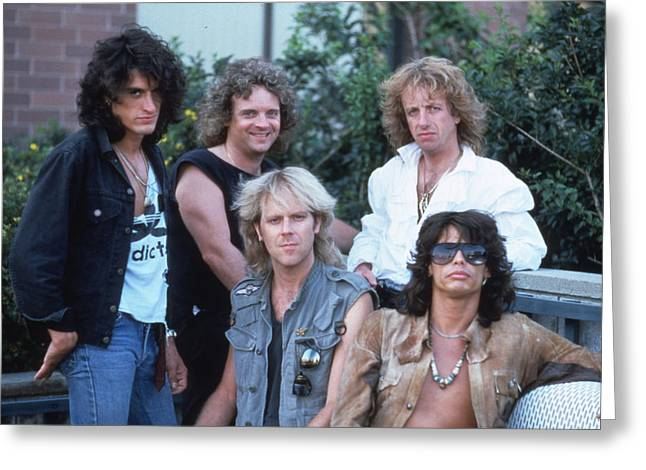 Tom Boy Greeting Cards - Aerosmith - Bad Boys from Boston 1970s Greeting Card by Epic Rights