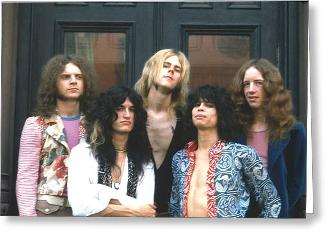 Tom Boy Greeting Cards - Aerosmith - Boston 1973 Greeting Card by Epic Rights