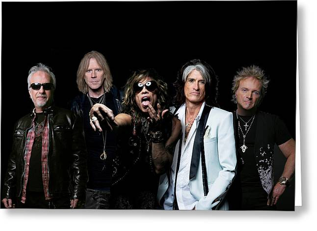 Tom Boy Greeting Cards - Aerosmith - Global Warming Tour 2012 Greeting Card by Epic Rights
