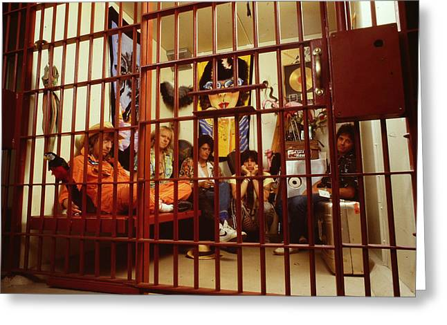 Tom Boy Greeting Cards - Aerosmith - In a Cage 1980s Greeting Card by Epic Rights
