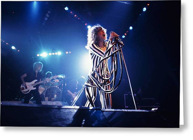 Tom Boy Greeting Cards - Aerosmith - Pinstripes and Love Bites 1970s Greeting Card by Epic Rights