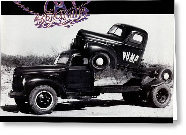 Hall Of Fame Greeting Cards - Aerosmith - Pump 1989 Greeting Card by Epic Rights