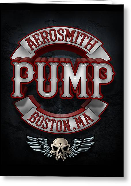 Get Greeting Cards - Aerosmith - Pump Greeting Card by Epic Rights