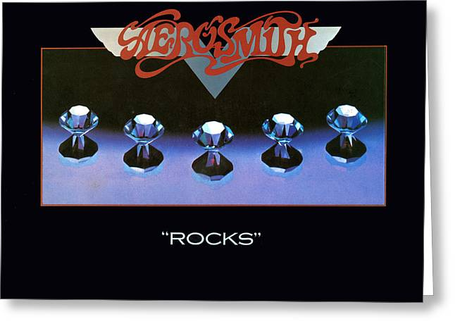 Stones Greeting Cards - Aerosmith - Rocks 1976 Greeting Card by Epic Rights