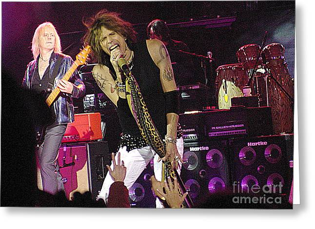 Gingrich Photo Greeting Cards - Aerosmith - Steven Tyler - DSC00072 Greeting Card by Gary Gingrich Galleries