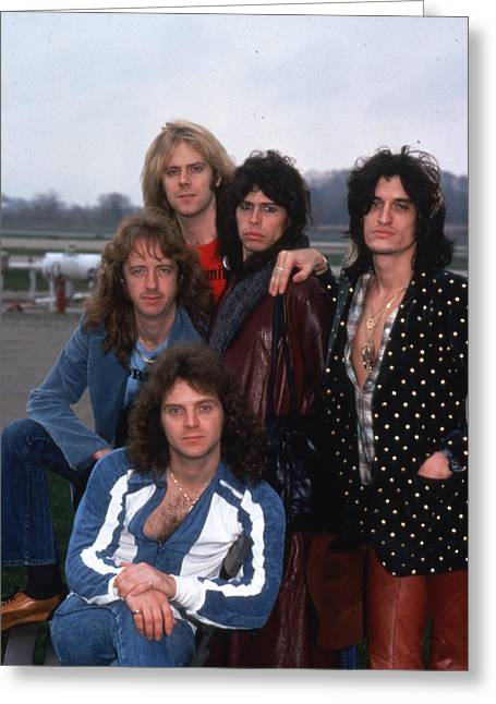 Tom Boy Greeting Cards - Aerosmith - Terre Haute 1977 Greeting Card by Epic Rights