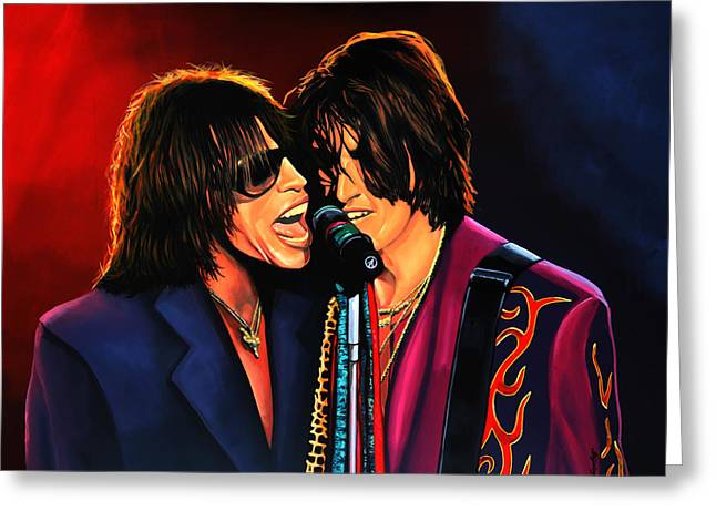 The Thing Greeting Cards - Aerosmith Toxic Twins Greeting Card by Paul Meijering