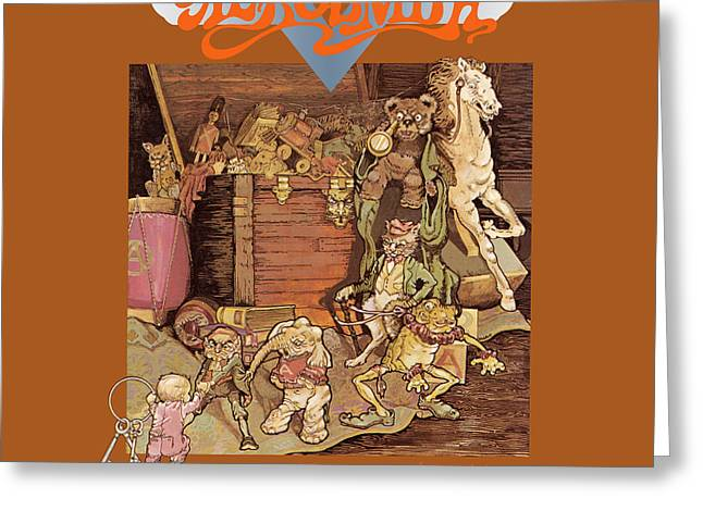 Tom Boy Greeting Cards - Aerosmith - Toys in the Attic 1975 Greeting Card by Epic Rights
