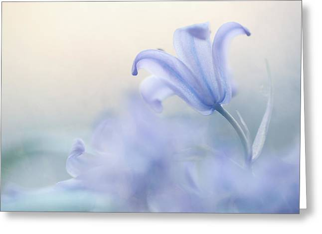 Book Cover Art Greeting Cards - Aethereal Blue Greeting Card by Jenny Rainbow