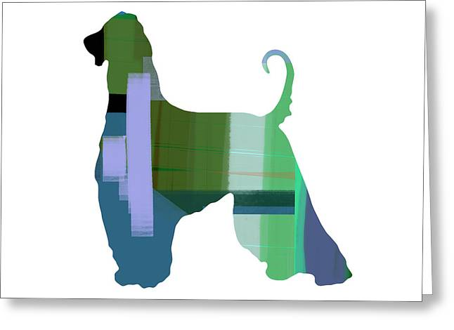 Pet Greeting Cards - Afghan Hound 1 Greeting Card by Naxart Studio