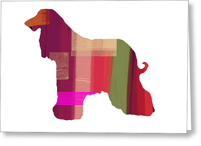 Afghan Hound 2 Greeting Card by Naxart Studio