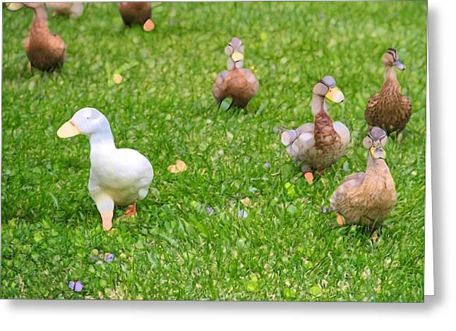 Yellow Beak Greeting Cards - Aflac Duck Greeting Card by Dan Sproul