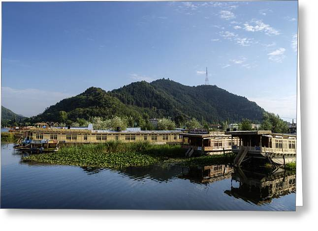Dal Lake Greeting Cards - Afloat in Luxury Greeting Card by Rohit Chawla