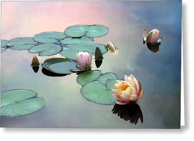 Float Greeting Cards - Afloat Greeting Card by Jessica Jenney