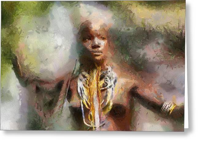 Africa Freedom Greeting Card by Georgi Dimitrov