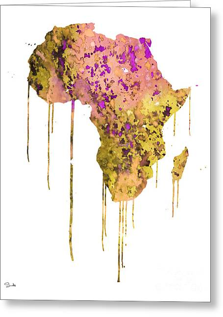 Africa Map Greeting Cards - Africa Greeting Card by Luke and Slavi
