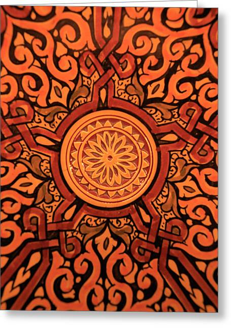 Africa, Morocco Hand-painted Glazed Greeting Card by Kymri Wilt