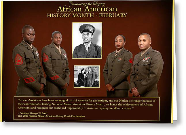 African Heritage Greeting Cards - African American History Greeting Card by Annette Redman