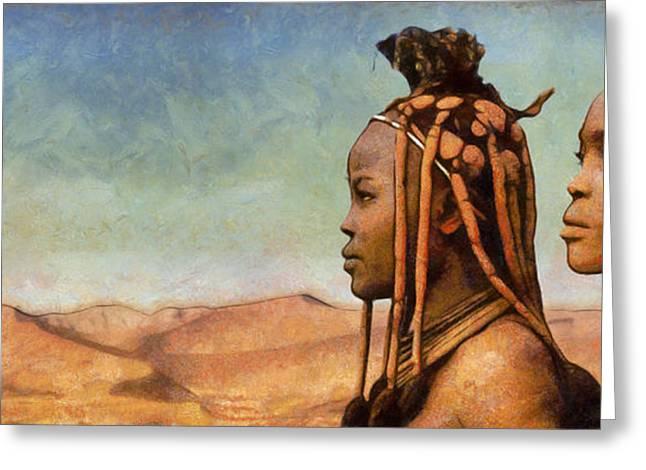 Marina Likholat Greeting Cards - African Beauty Greeting Card by Marina Likholat