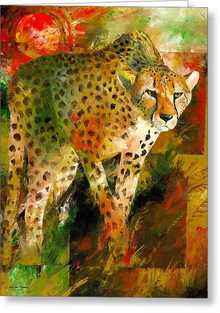 Christiaan Bekker Greeting Cards - African Cheetah Greeting Card by Christiaan Bekker