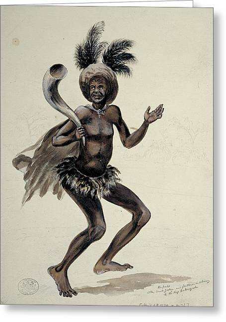 Jester Greeting Cards - African court jester, artwork Greeting Card by Science Photo Library