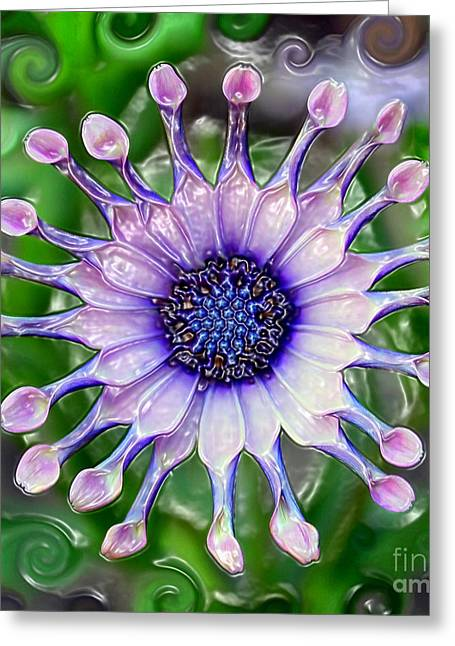 Recently Sold -  - Van Gogh Style Greeting Cards - African Daisy for Van Gogh Greeting Card by Carol Groenen