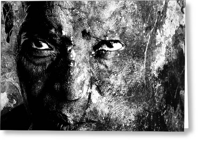 Scale Digital Art Greeting Cards - African Lady grayscale Greeting Card by Marian Voicu