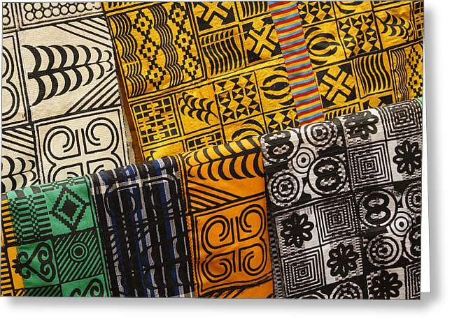 West Africa Greeting Cards - African Prints Greeting Card by Michele Burgess