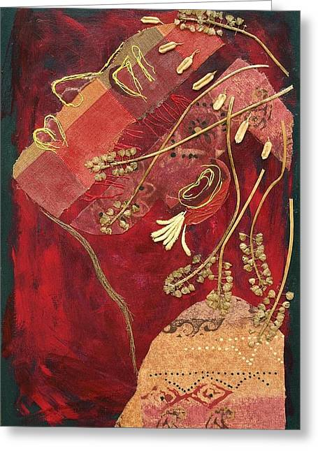 Chin Up Mixed Media Greeting Cards - African Queen Greeting Card by Diane Fine
