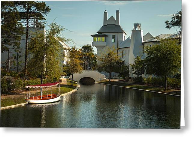 Frank Feliciano Greeting Cards - African Queen in Alys Beach Canal Greeting Card by Frank Feliciano