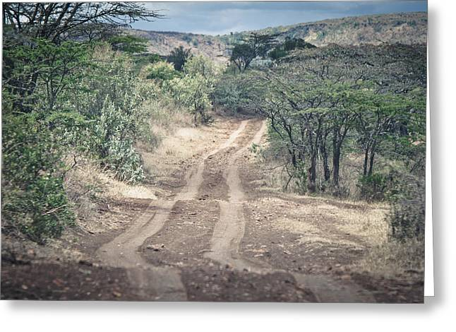 Native African Ethnicity Greeting Cards - African road Greeting Card by Mesha Zelkovich